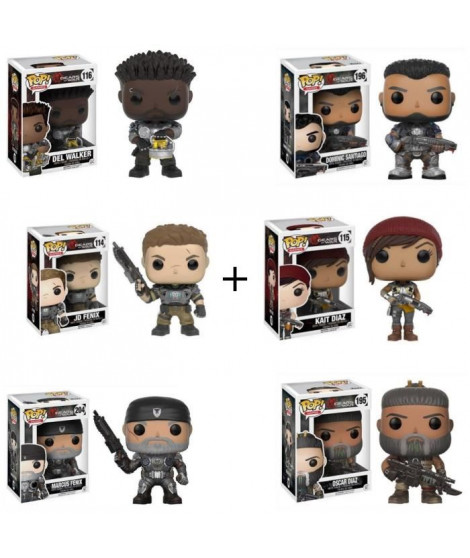 Pack de 6 Pop! Gears of War