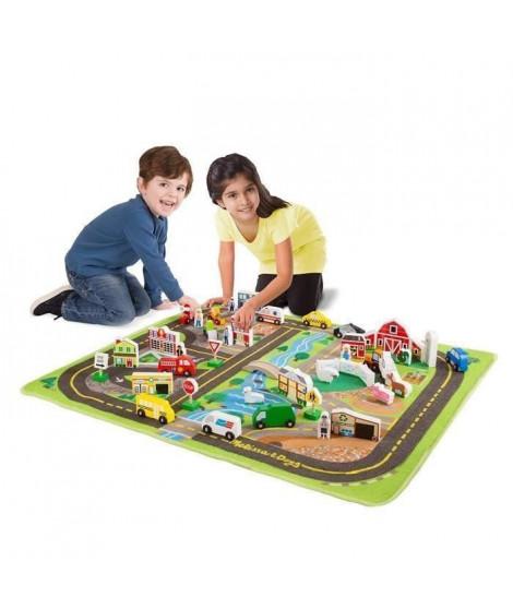 MELISSA & DOUG Ensemble de jeu avec tapis de luxe avec routes