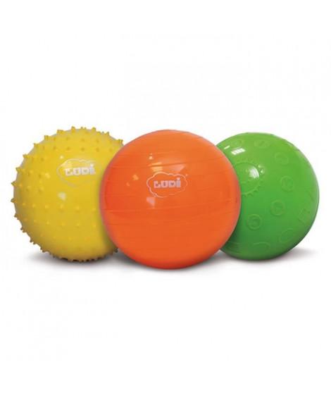 LUDI Balles Sensorielles coffret de 3