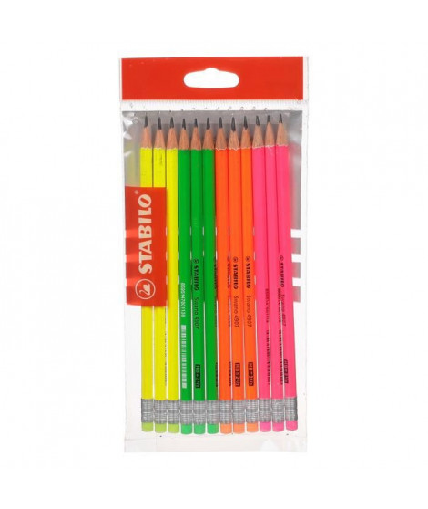 STABILO Ecopack x 12 crayons graphite Grafito HB bout gomme
