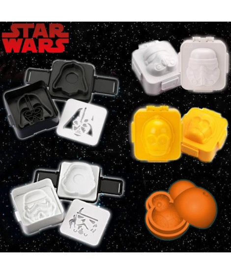 Pack 5 moules Star Wars