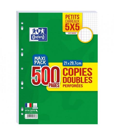 OXFORD Copies doubles perforées 500 pages 5x5 - 90g