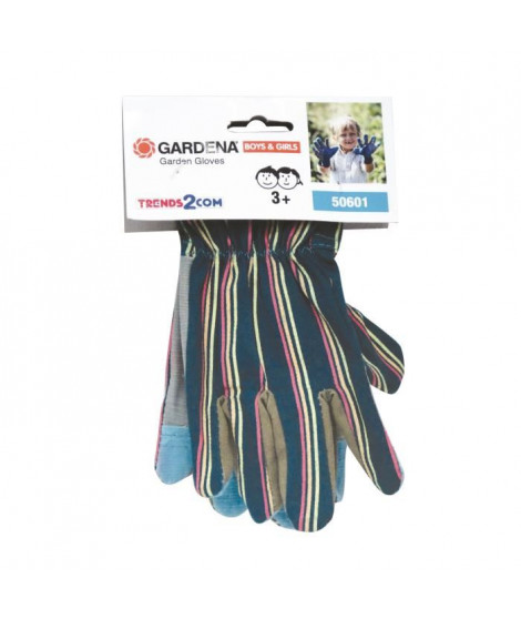 GARDENA Gants de jardin - Enfant a partir de 3 ans - 75 % coton, 25 % polyester