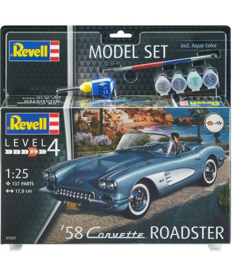 REVELL Maquette Model set Voitures 58 Corvette Roadster 67037