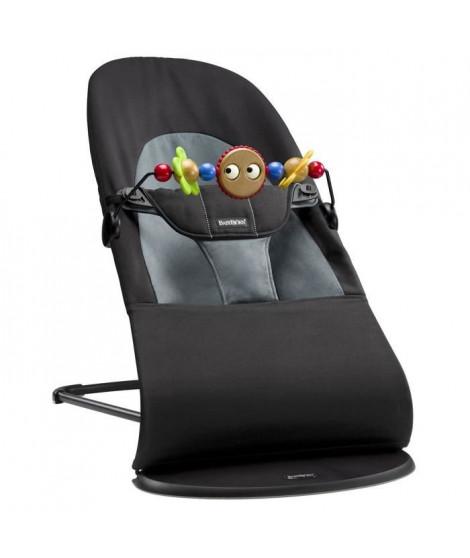 BABYBJORN Transat Balance Soft coton Noir / Gris - avec jouet en bois