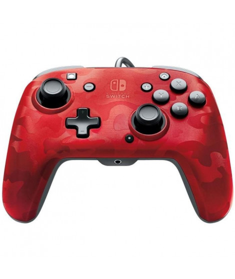 Manette filaire PDP Camouflage Rouge pour Switch
