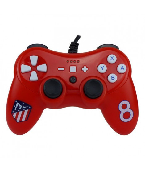 Manette filaire rouge Atletico Madrid pour Switch