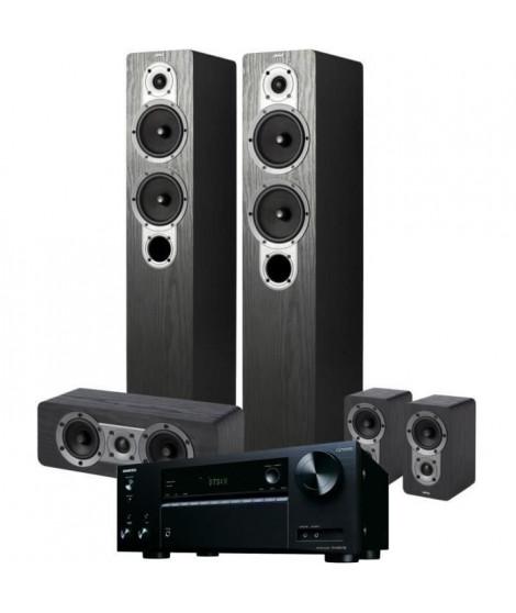 Pack ONKYO TX-NR575E(B) Amplificateur Tuner Noir A/V réseau 7,2 canaux + JAMO S 426HCS3 Systeme d'enceintes Home Cinema 5.0