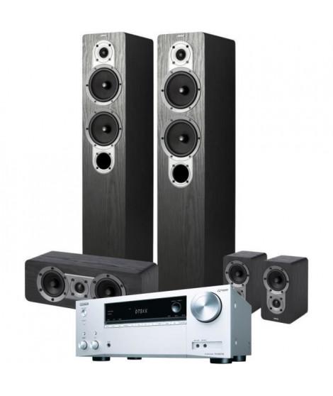 Pack ONKYO TX-NR575E(S) Amplificateur Tuner A/V réseau 7,2 canaux - Argenté + JAMO S 426HCS3 Systeme d'enceintes Home Cinema 5.0