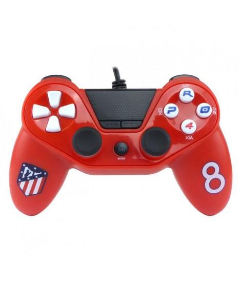 Manette filaire Pro4 rouge Atletico Madrid pour PS4, PS3 et PC
