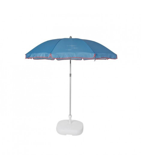 EZPELETA Parasol de plage Beach - Ø 180 cm - Poisson bleu Socle non inclus