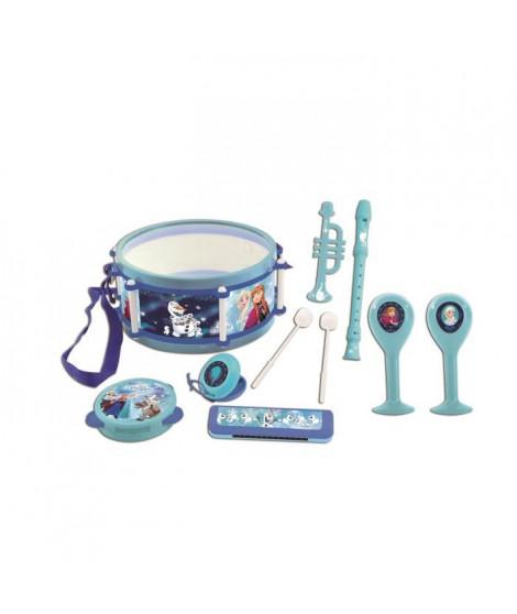 LEXIBOOK - LA REINE DES NEIGES - Lot de 7 Instruments de musique Enfant - Tambourin - Maracas - Castagnette - Harmonica - Flû…