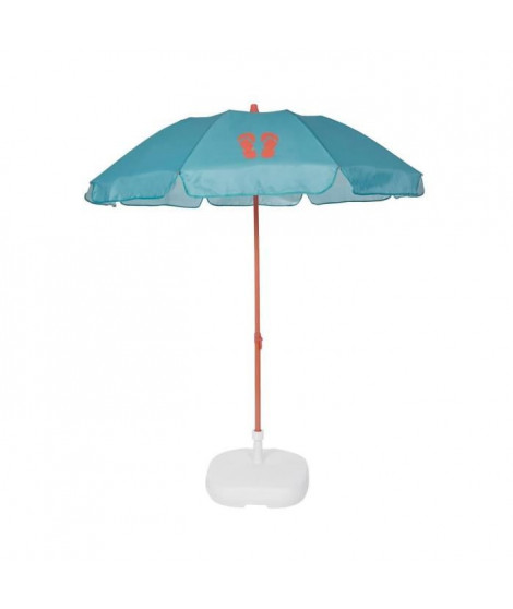 EZPELETA Parasol de plage Fold - Ø 180 cm - Tongs orange Socle non inclus