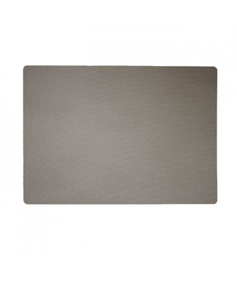 Lot de 4 Sets de table textile - 43x30 cm - Gris taupe