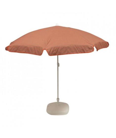 EZPELETA Parasol inclinable Bora - Ø 160 cm - Rayé orange et gris Socle non inclus
