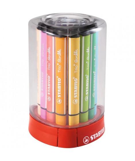 STABILO Étui ColorParade de 12 Feutres de coloriage Trio Scribbi