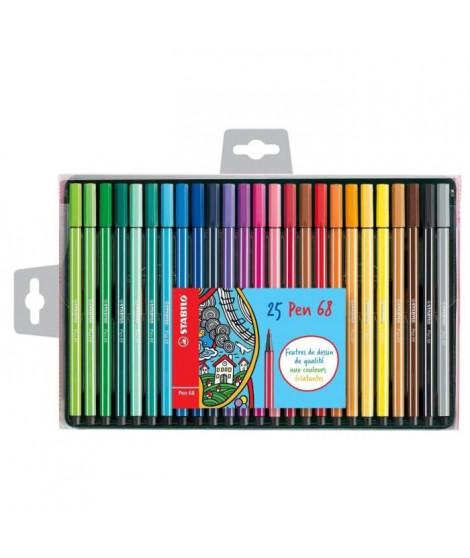 STABILO Coffret de 25 feutres de coloriage  Pen 68