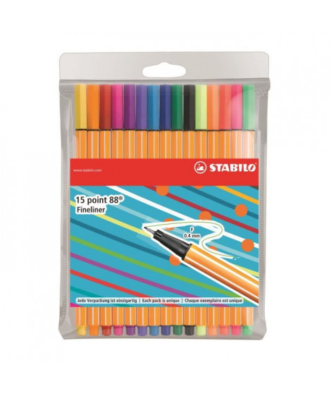 """STABILO 15 stylos-feutres """"Individual just like you"""" - Point 88"""