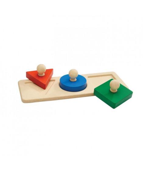 PLAN TOYS Encastrement méthode Montessori - 3 formes