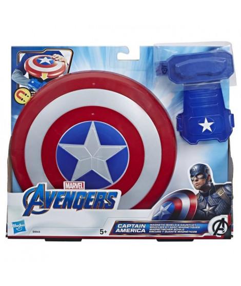 AVENGERS END GAME - Bouclier Magnétique et Gant de Captain America - Coffret Marvel Avengers