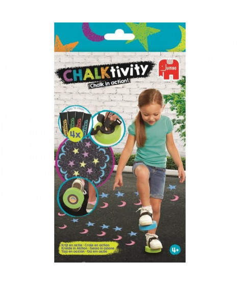 JUMBO Chalktivity - Tampons a Chausser, jeu créatif d'extérieur avec de la craie