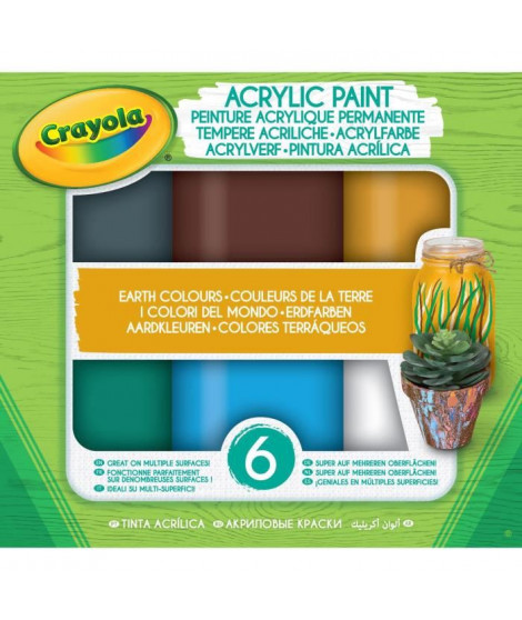 GOLIATH Peinture acrylique Crayola - Earth Colours