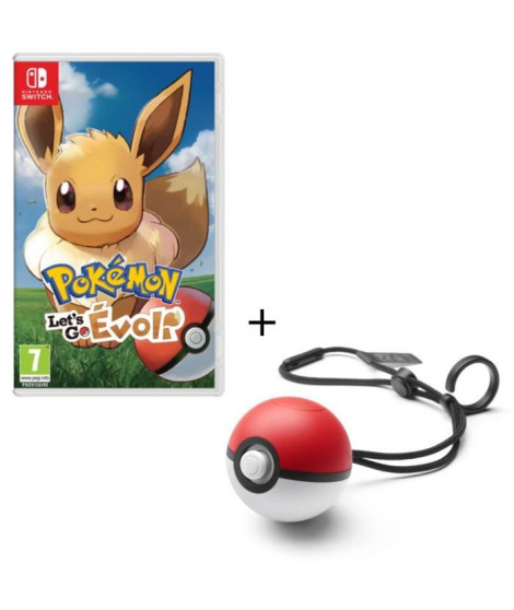 Pack Jeu Pokemon Let's Go Evoli Switch + Poke Ball Plus
