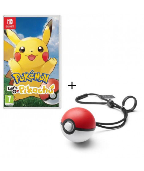 Pack Jeu Pokemon Let's Go Pikachu Switch + Poke Ball Plus