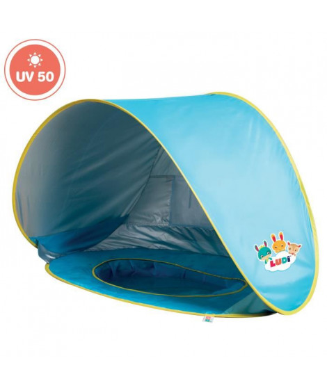 LUDI Tente de plage et piscine pour bébé - en tissu avec protection UV 50 - des 10 mois
