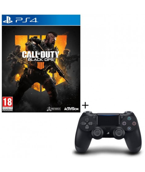 Pack Call of Duty Black Ops 4 + Manette PS4 DualShock 4 Noire V2