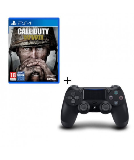Call of Duty World War II + Manette DS4 Noire