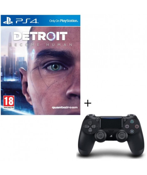 Pack Detroit Become Human + Manette DualShock 4 Noire