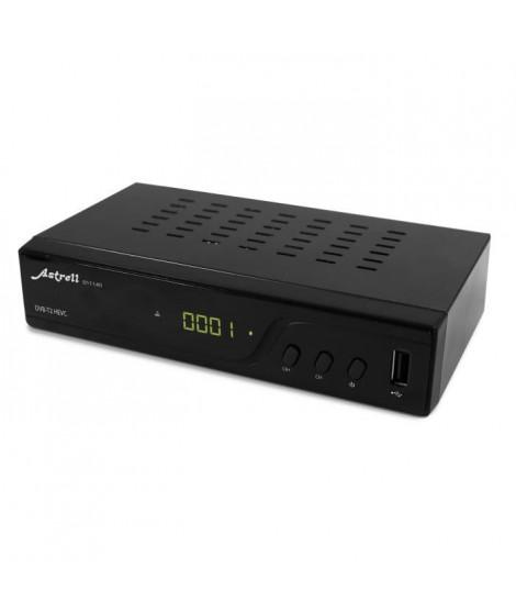 ASTRELL 011140 Décodeur TNT HD - DVB-T2/HEVC avec USB