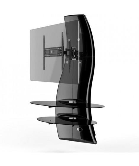 "MELICONI GHOST DESIGN 2000 ROTATION Meuble TV support Noir - Pour TV 32"" a 63"" - Orientable et Inclinable"