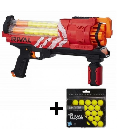 NERF RIVAL - Artemis XVII-3000 - Rouge + 25 Recharges Offertes !