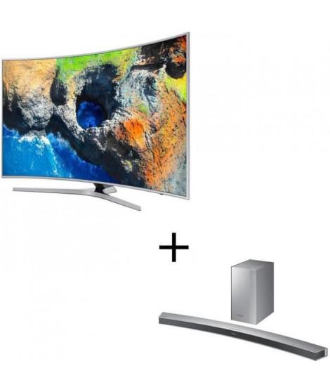 SAMSUNG UE65MU6505 TV LED Incurvée UHD 163cm (65'') - Smart TV - 1600 PQI - 3 x HDMI - Classe énergétique A+ - HW-M4501 Barre…