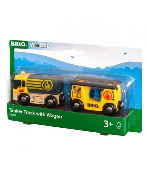 BRIO World  - 33907 - Camion Citerne - Jouet en bois