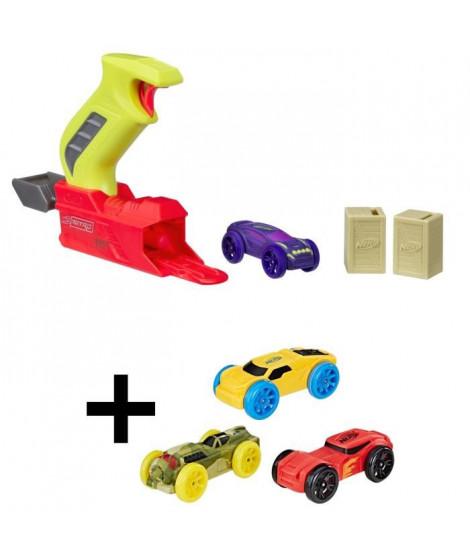 NERF NITRO - Starter Pack + Recharges : rouge, jaune, verte