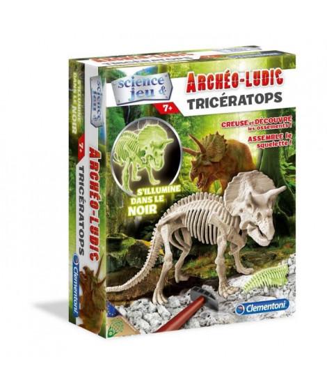 CLEMENTONI Archéo Ludic - Tricératops Phosphorescent - Science & Jeu