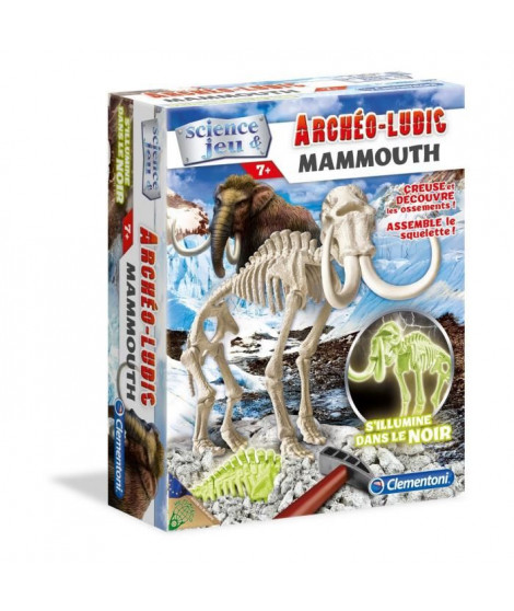 CLEMENTONI Archéo Ludic - Mammouth Phosphorescent - Science & Jeu
