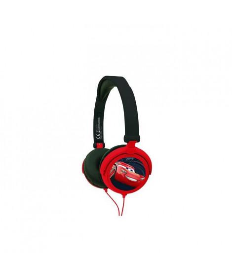 LEXIBOOK - CARS - Casque Audio Stéréo, Puissance sonore Limitée, Pliable et Ajustable