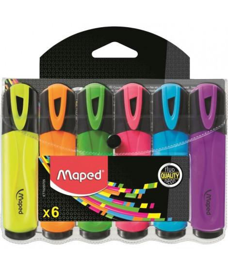 MAPED Pochette de 5 Surligneurs Peps fluo - Couleur assorties