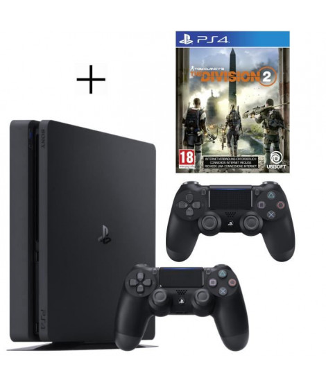 Pack Playstation : PS4 500Go + Manette PS4 + Voucher Fortnite + The Division 2