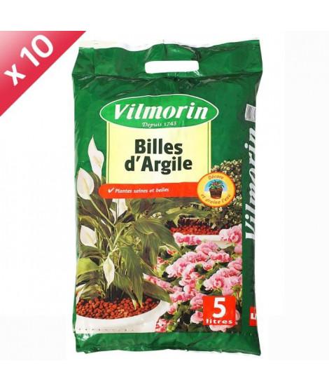VILMORIN Lot de 10 sacs de Billes d'Argile - 5L