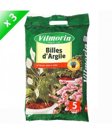 VILMORIN Lot de 3 sacs de Billes d'Argile - 5 L