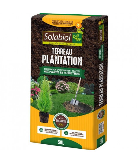 SOLABIOL - Terreau Plantation - Sac 50 L - UAB