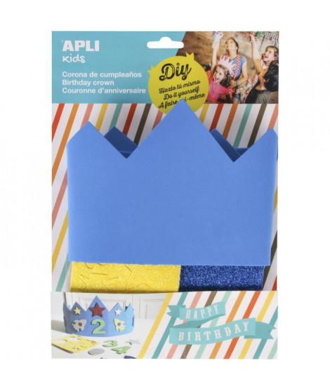 APLI Sachet 1 Couronne en Mousse Bleue