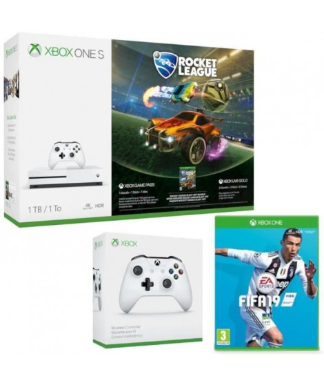 Xbox One S 1 To Rocket League + 2e manette + Fifa 19