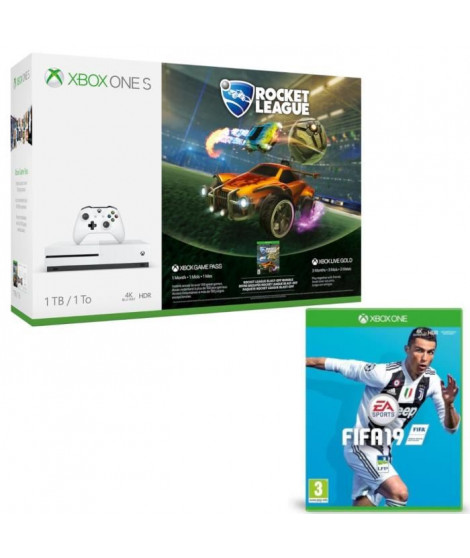 Xbox One S 1 To Rocket League + Fifa 19