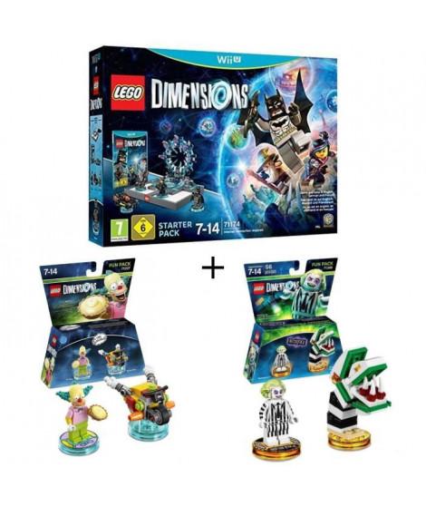 Pack LEGO: Starter Pack Wii U Lego Dimensions + 2 Figurines LEGO Dimensions: Les Simpsons Krusty le Clown + Beetlejuice
